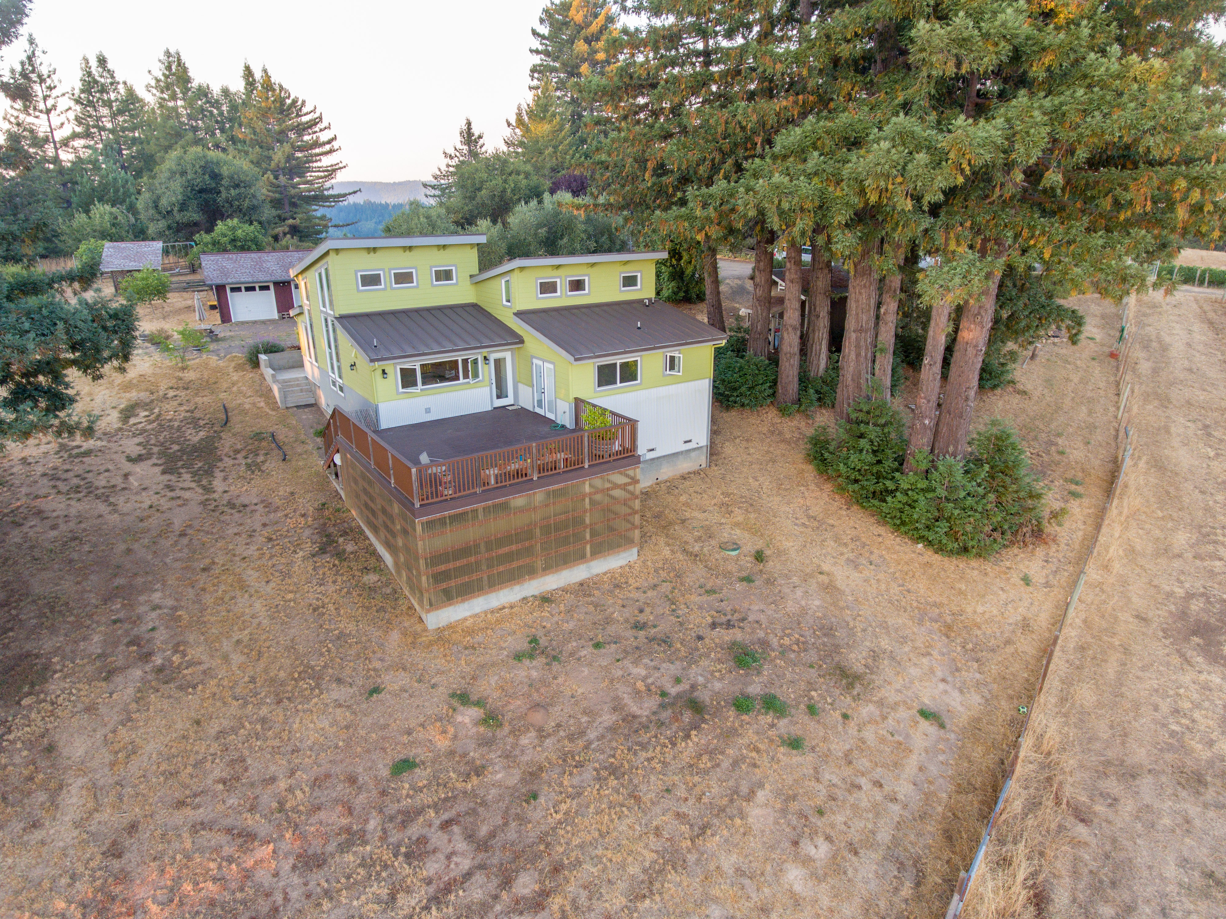 Built in 2013, this beautiful home awaits a new family.  Watched over by redwoods
